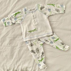 Kissy Kissy Baby Safari Two Piece Pajama 0-3 Month